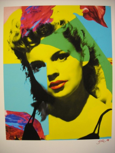 famous painting Judy garland fuchsia of James Gill