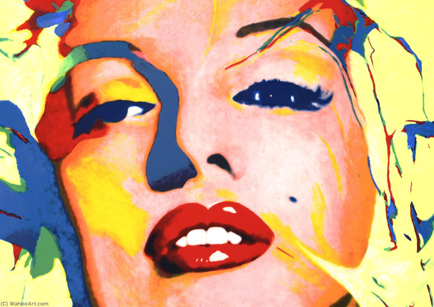 famous painting Lipstick Marilyn Study II of James Gill