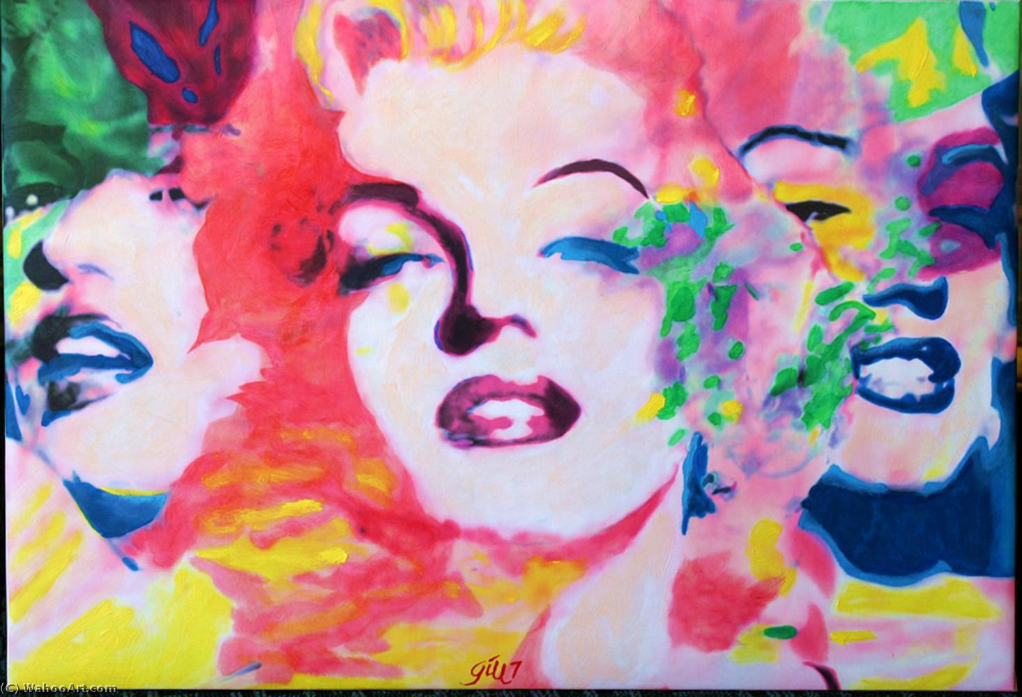 famous painting Triple marilyn acrylic of James Gill
