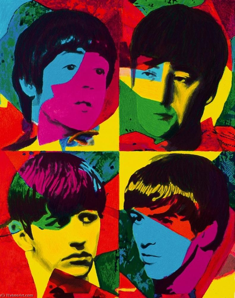 famous painting Young beatles beautiful magic siebdruck of James Gill