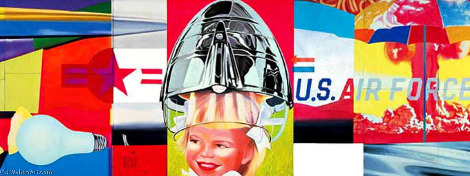 famous painting F-111 (detail) (2) of James Rosenquist