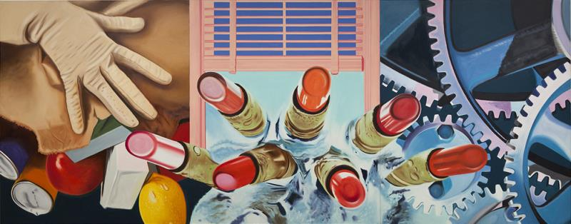 famous painting House of Fire II of James Rosenquist