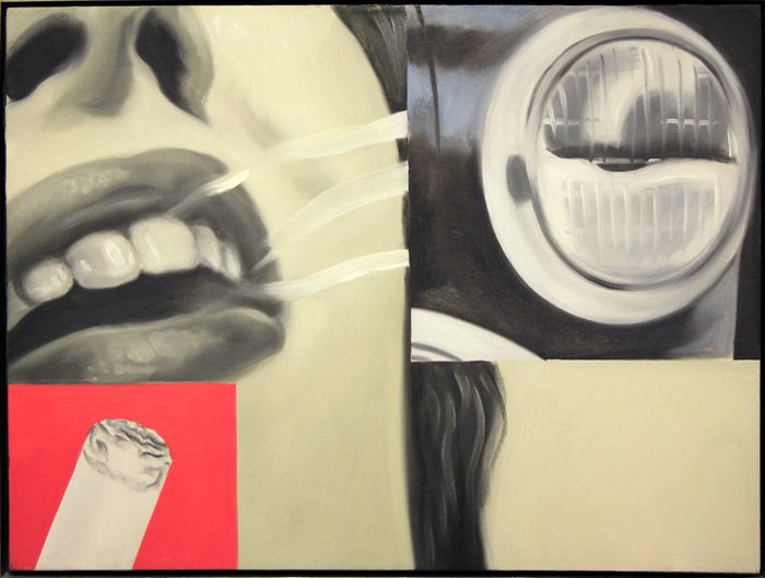 famous painting Smoked glass of James Rosenquist