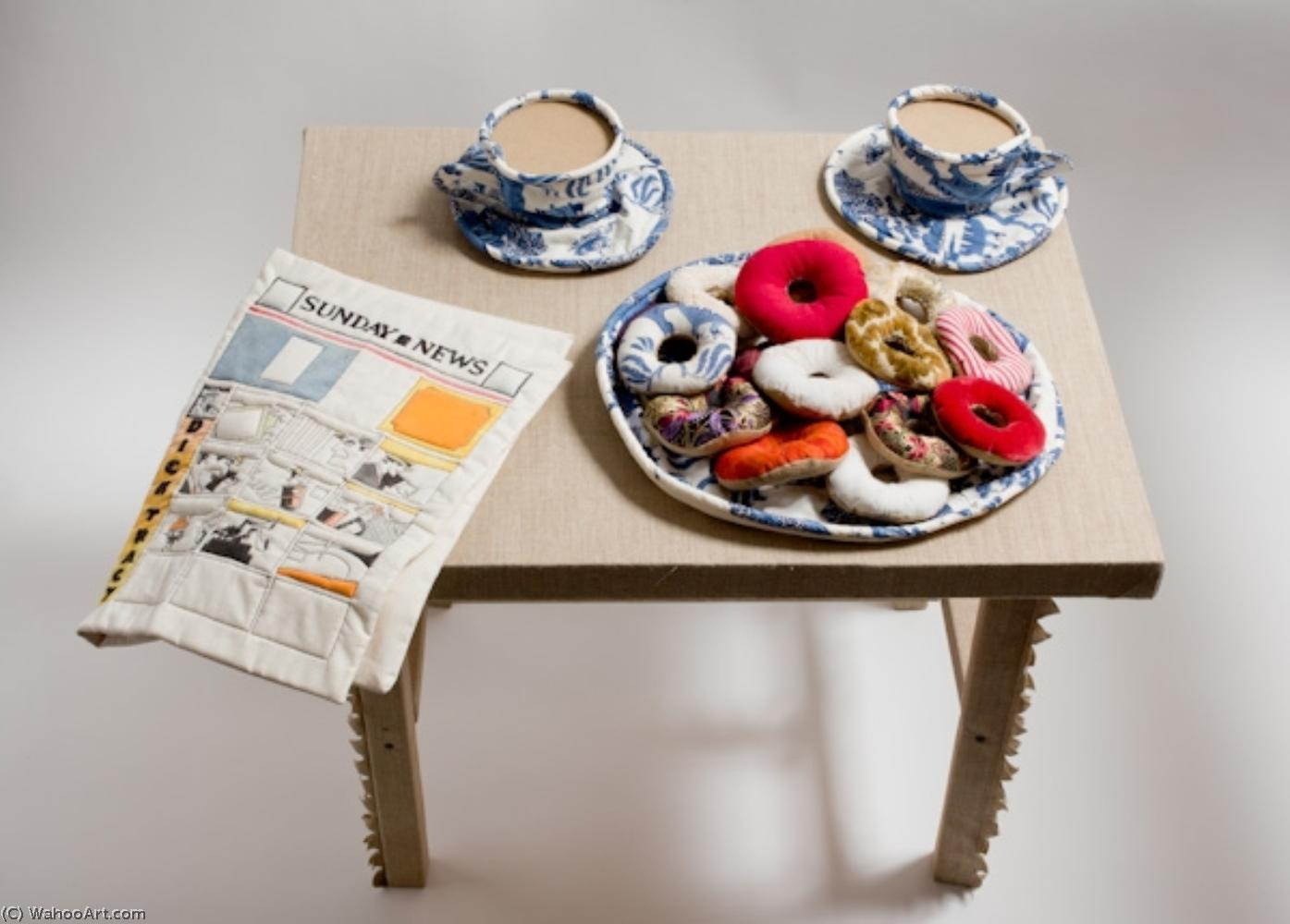 famous painting Donuts, Coffee Cups and Comic of Jann Haworth