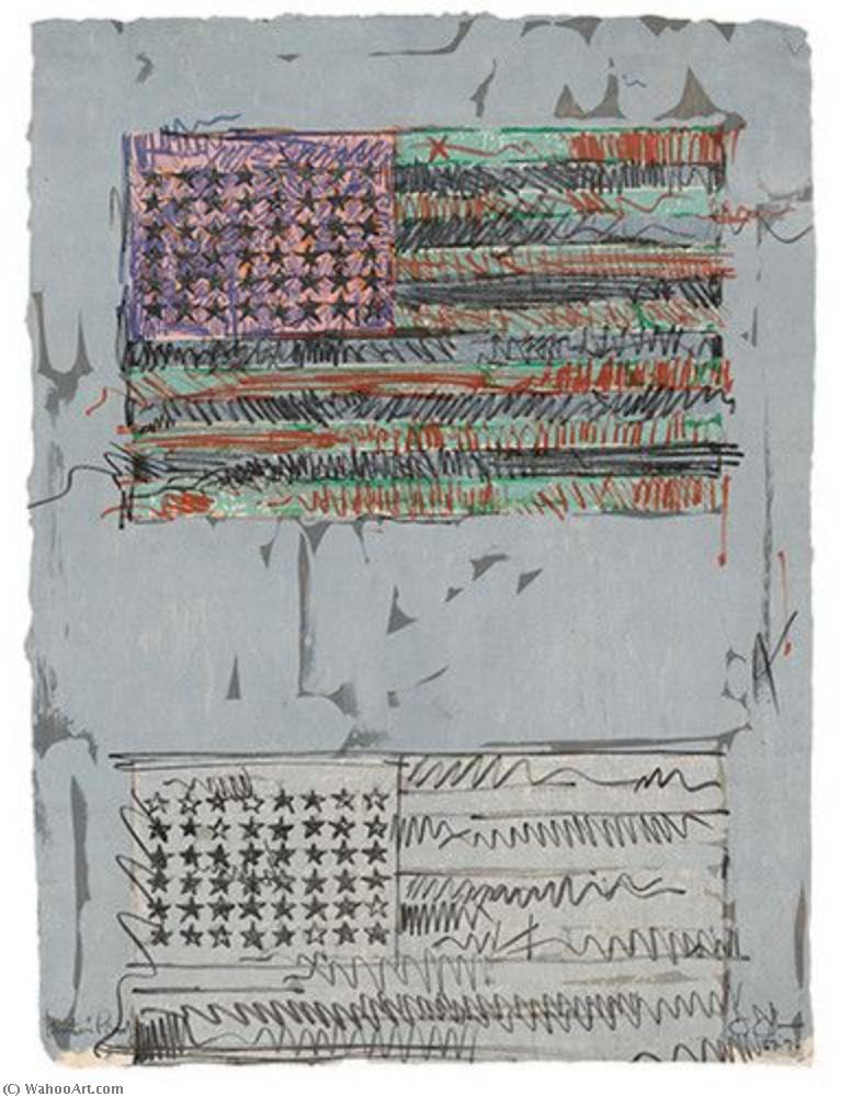 famous painting Flags II of Jasper Johns