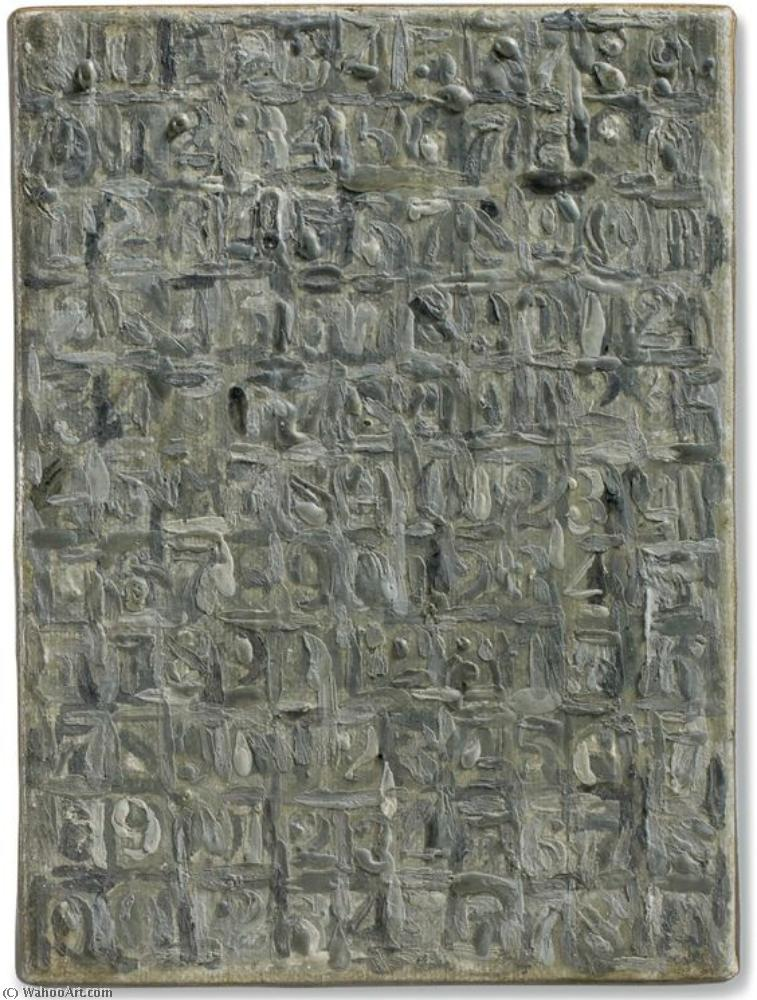 famous painting Gray numbers of Jasper Johns