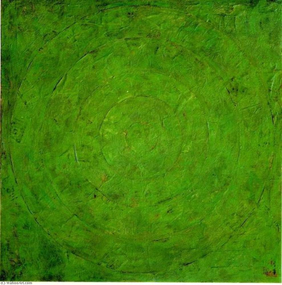 famous painting Green target of Jasper Johns