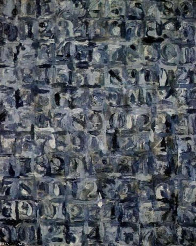 famous painting Grey numbers of Jasper Johns