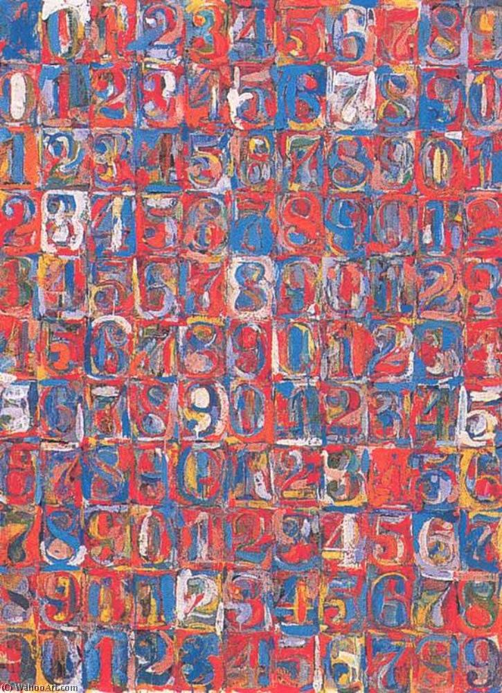 famous painting Numbers in Color of Jasper Johns