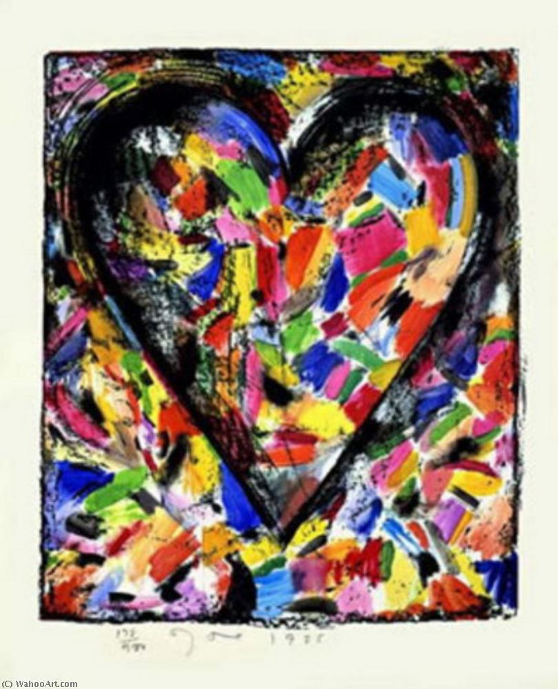 famous painting Confetti heart of Jim Dine