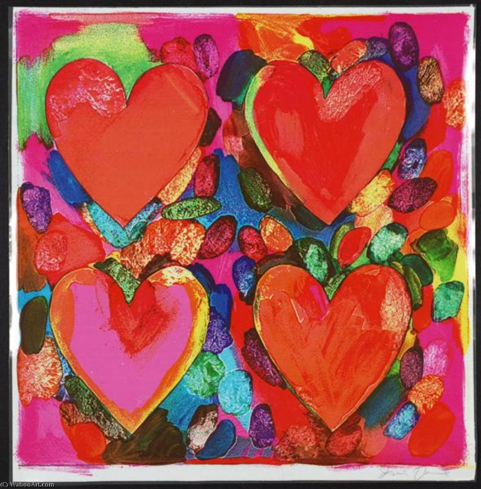 famous painting Four hearts of Jim Dine