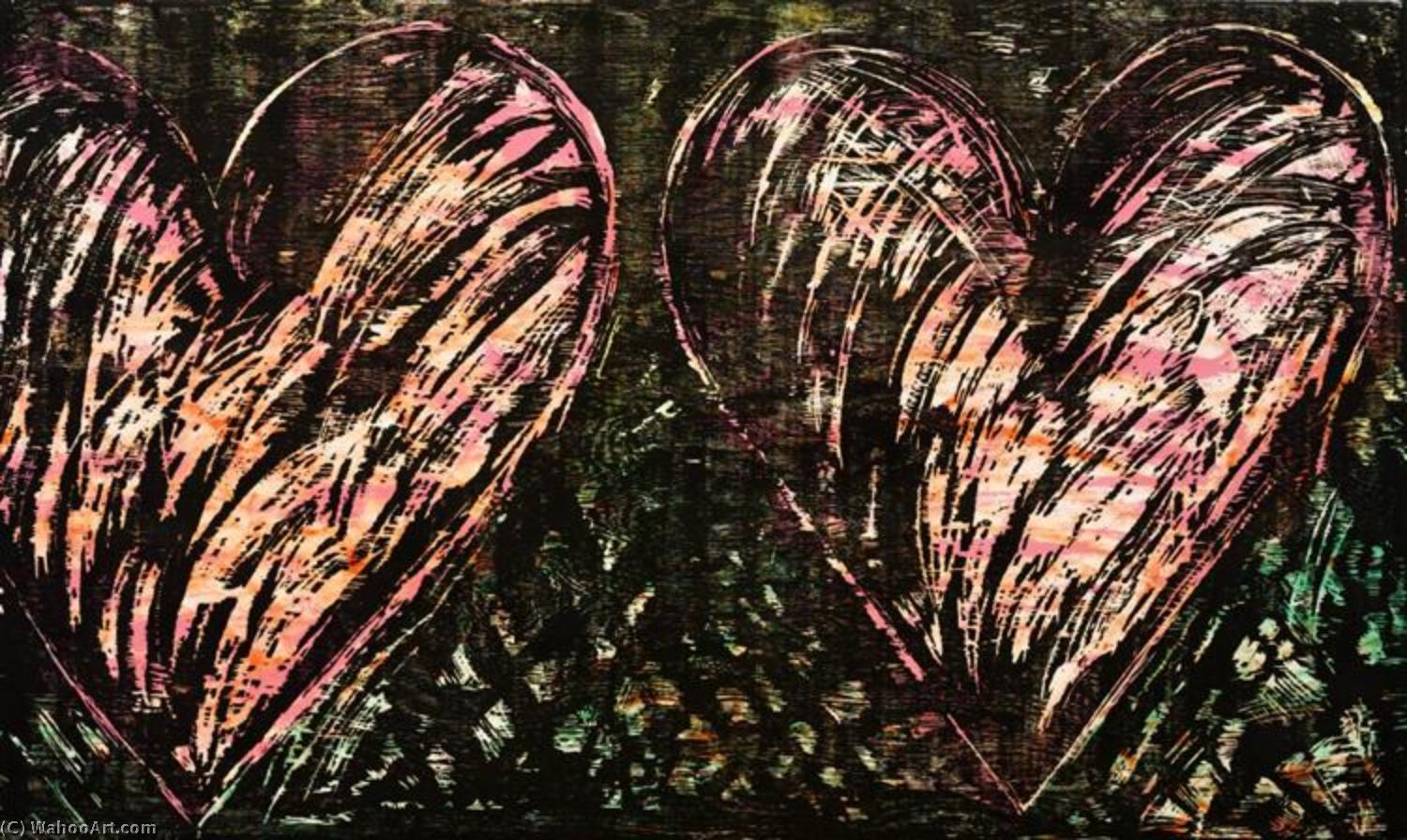 famous painting Two hearts in a forest of Jim Dine