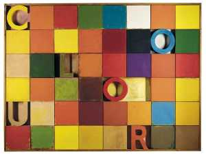 Joe Tilson - Colour chart