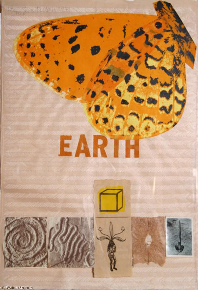 famous painting Earth with Butterfly of Joe Tilson