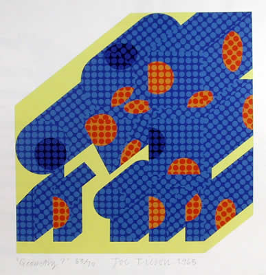 famous painting Geometry (2) of Joe Tilson