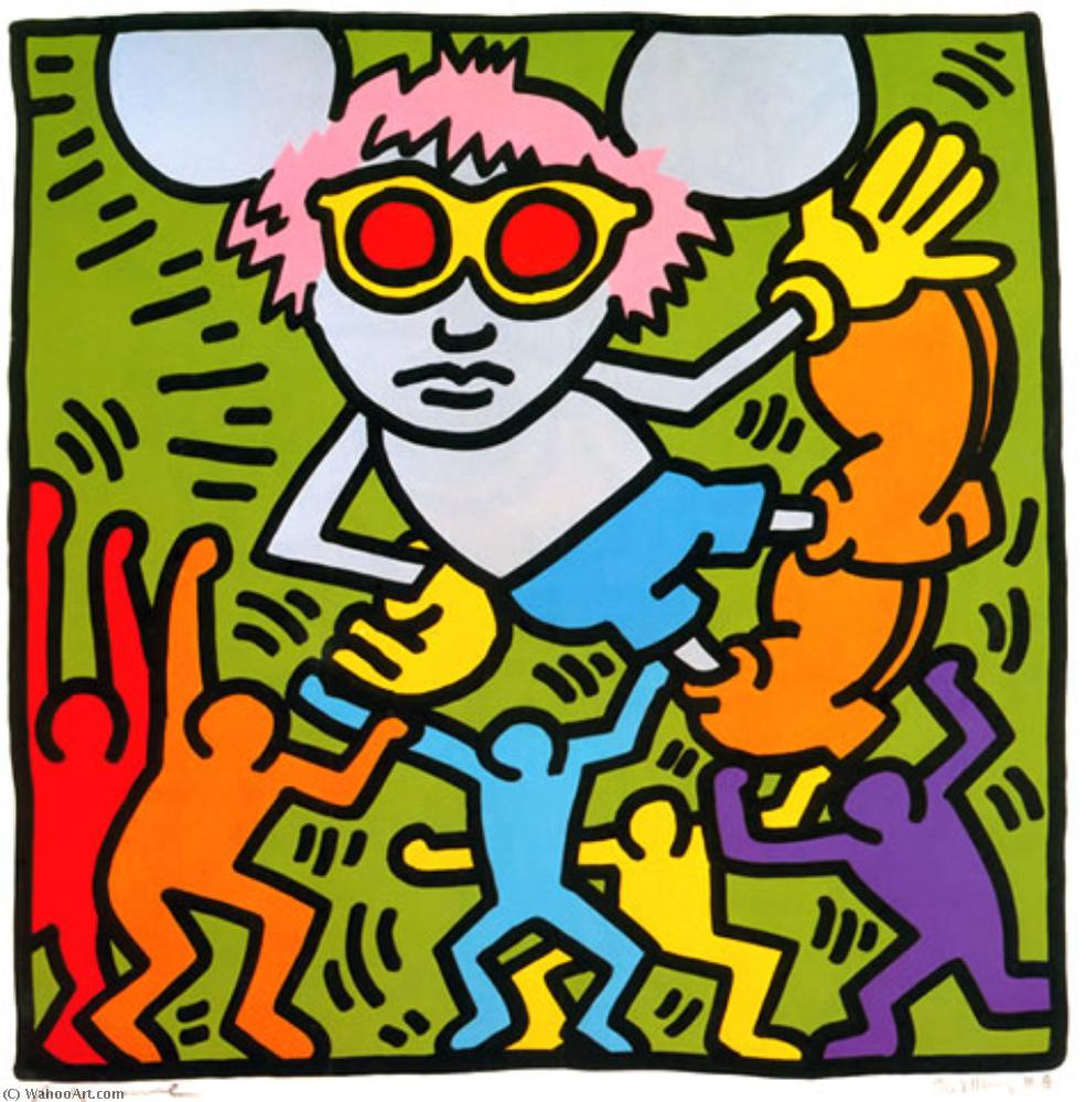 Order Art Reproductions Pop Art : Andy mouse (2) by Keith Haring | BuyPopArt.com