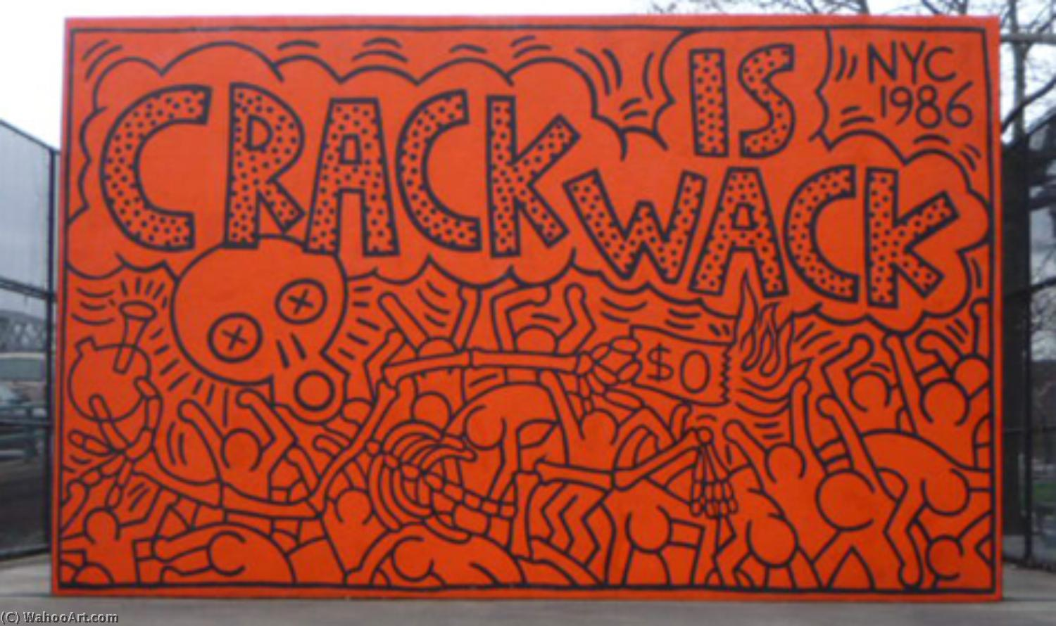 famous painting Crack is wack of Keith Haring