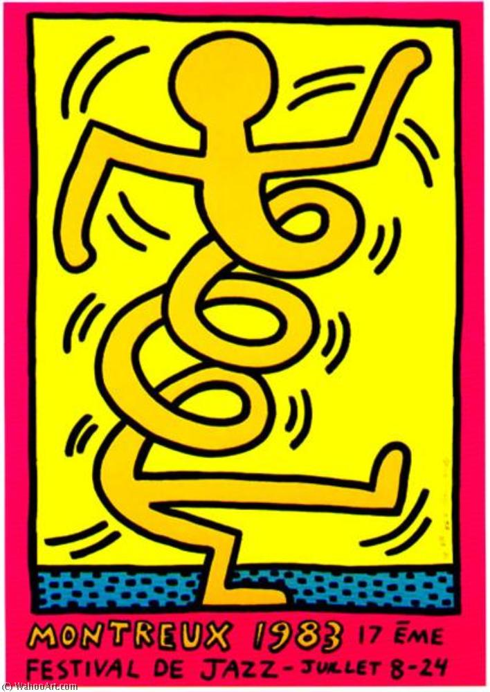 famous painting Montreux of Keith Haring