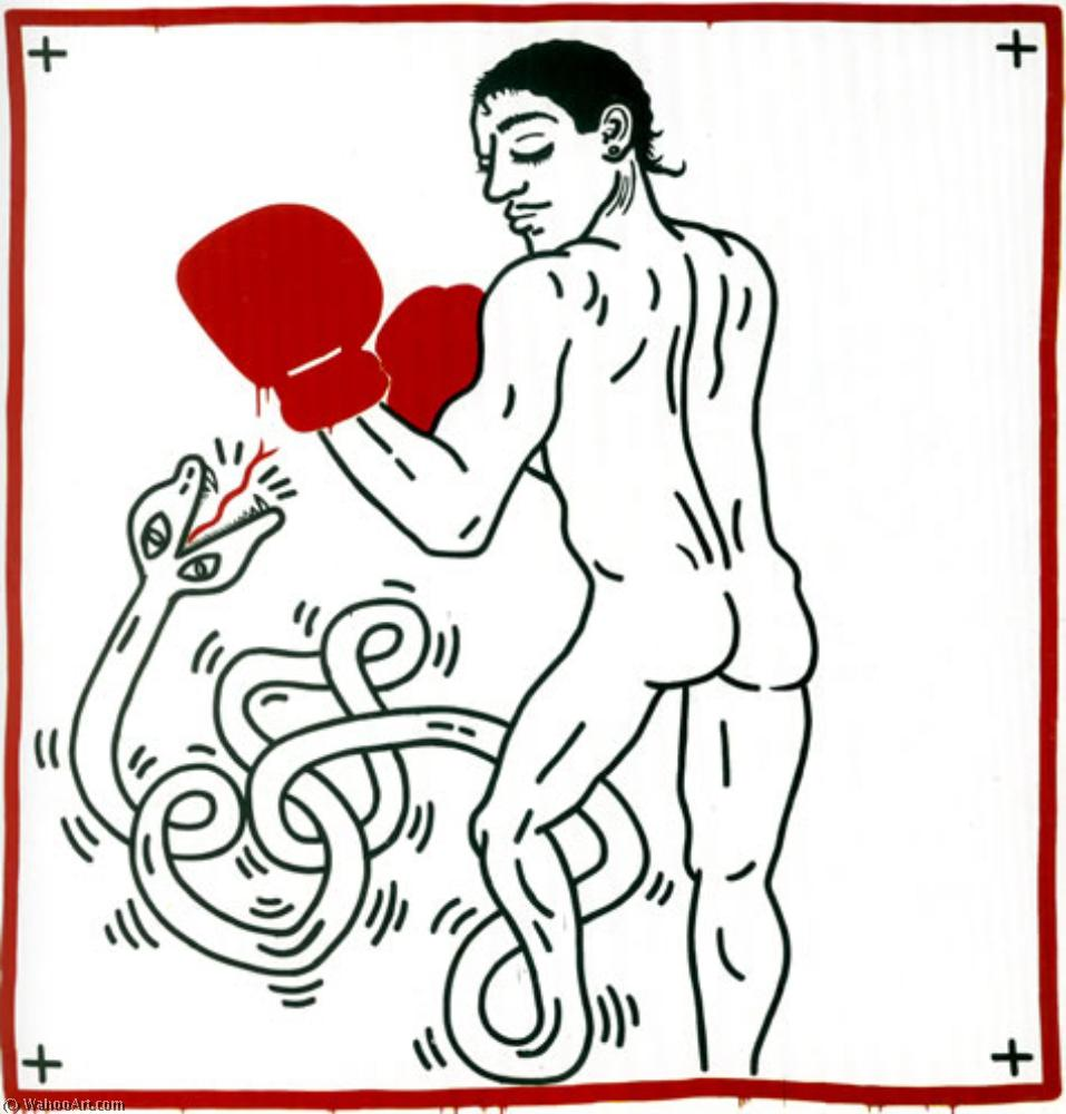 famous painting Portrait of macho camacho of Keith Haring