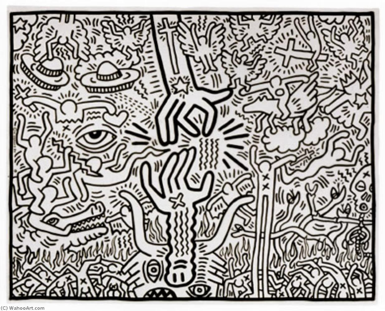 famous painting The marriage of heaven and hell of Keith Haring