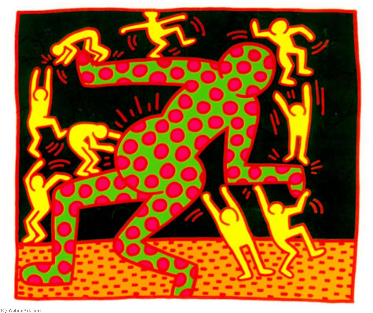 famous painting Untitled (6) of Keith Haring