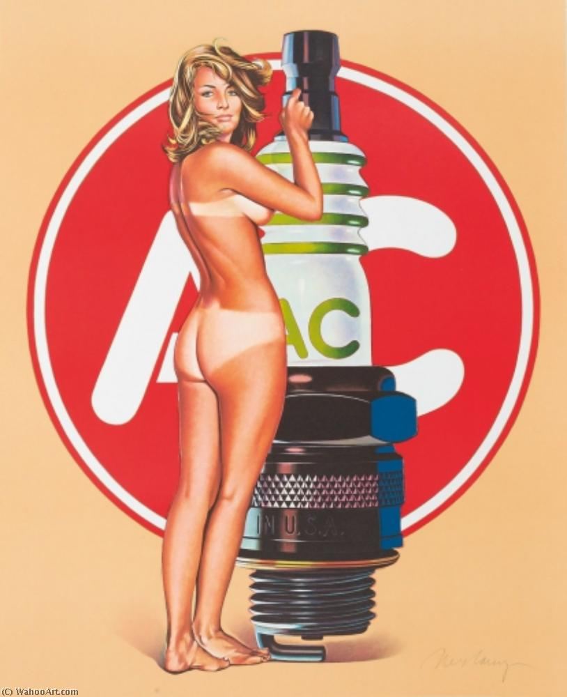 famous painting AC Delco Spark Plug Pin Up Girl Decal of Mel Ramos