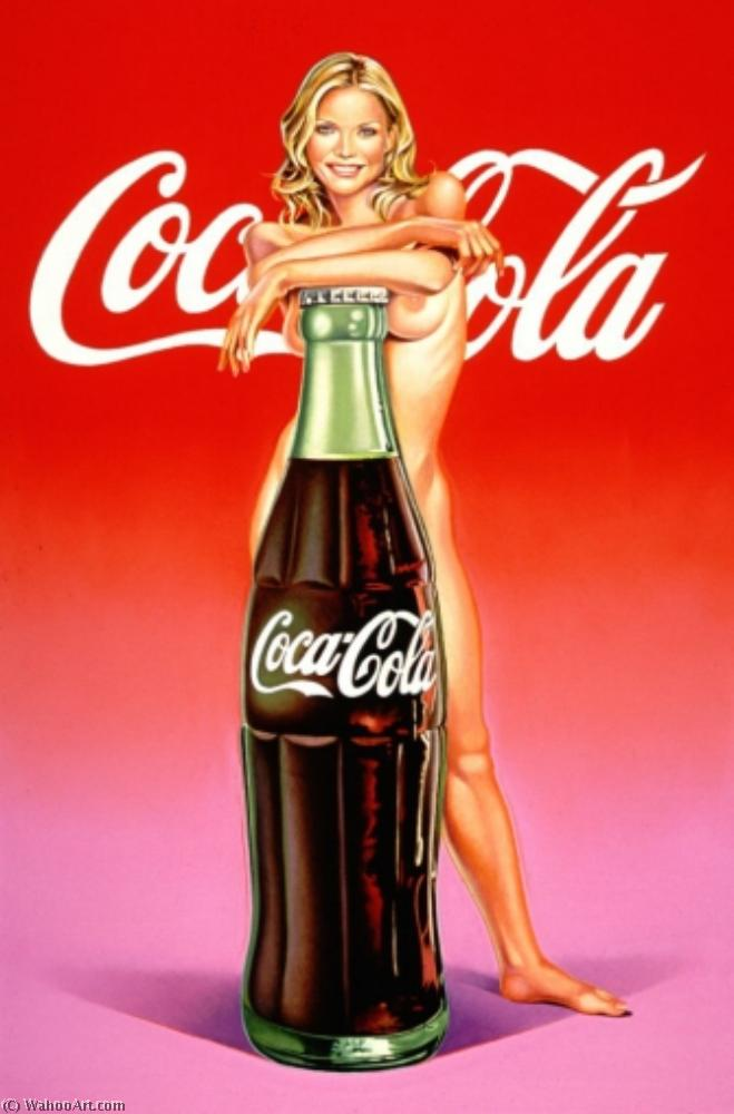 famous painting Lola cola #4 of Mel Ramos