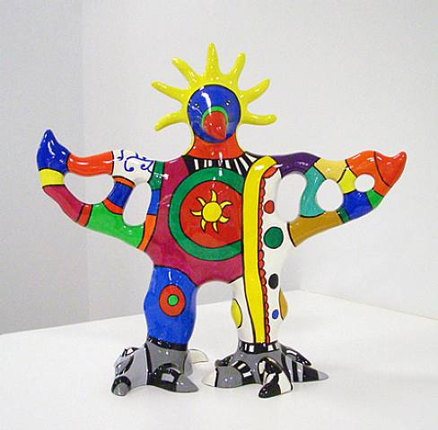 famous painting Sun god vase of Niki De Saint Phalle