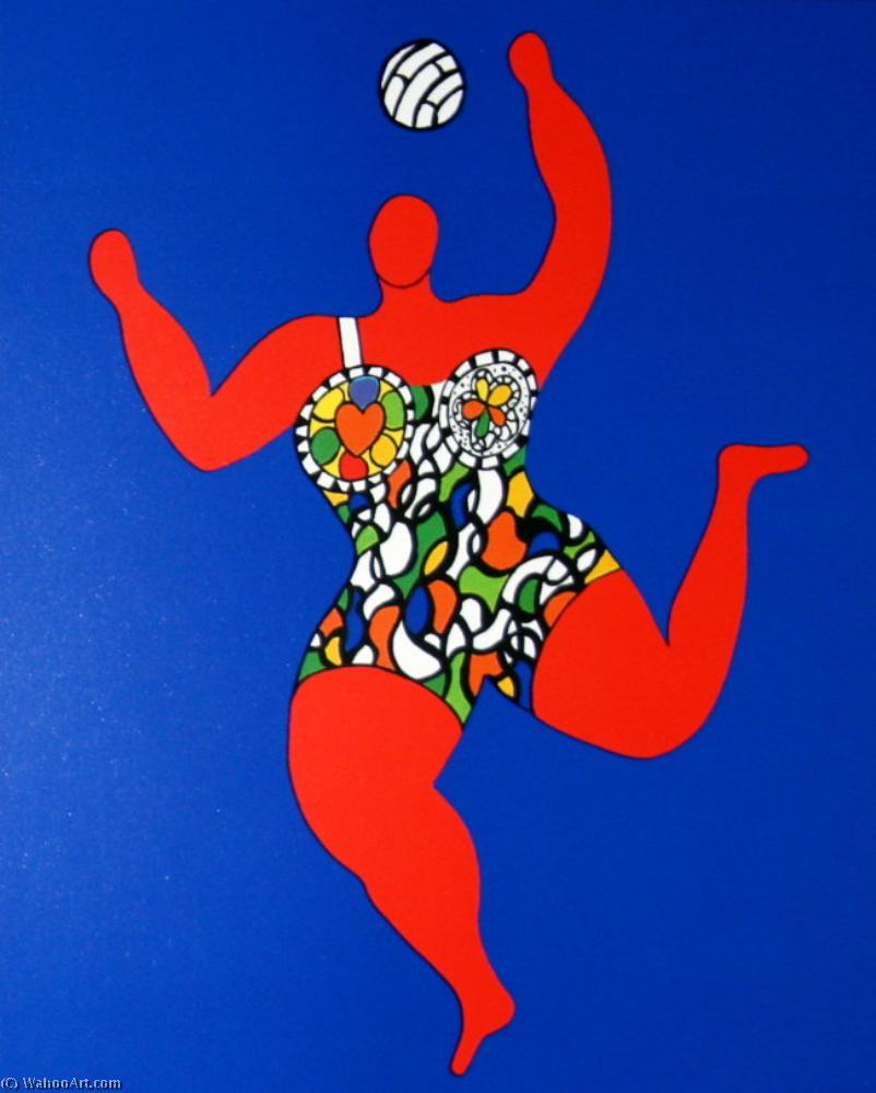 famous painting Volleyball of Niki De Saint Phalle