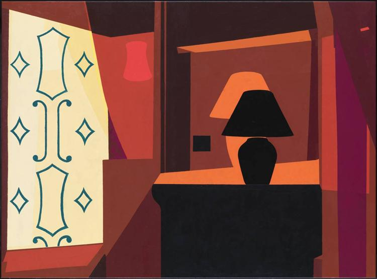 famous painting Braque curtain of Patrick Caulfield