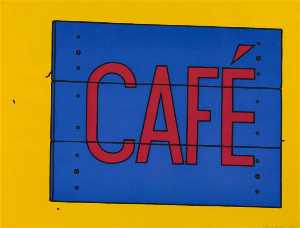 Patrick Caulfield - Cafe sign