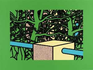 Patrick Caulfield - Garden with pines