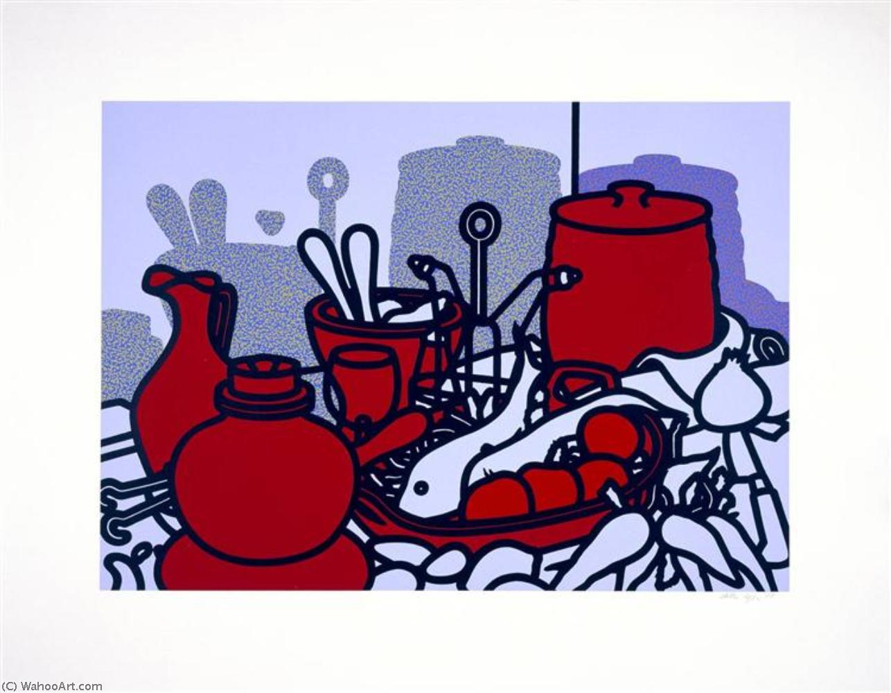 famous painting Glazed earthenware of Patrick Caulfield