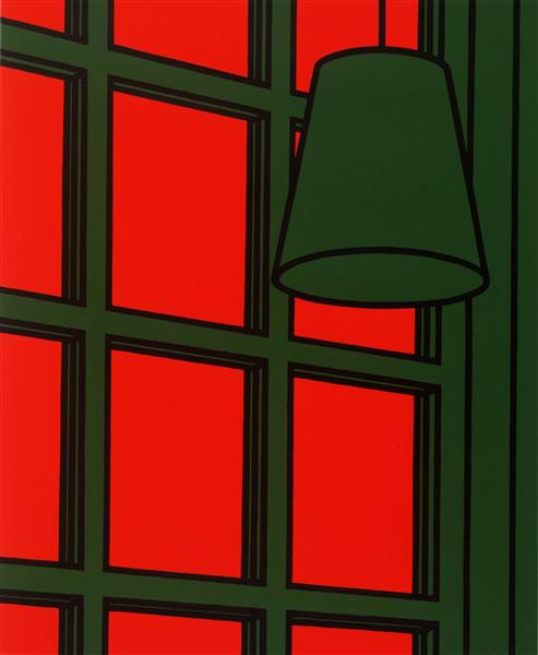 famous painting Interior evening of Patrick Caulfield