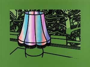 Patrick Caulfield - Lamp and pines