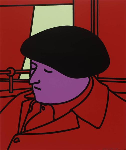 famous painting Portrait of a frenchman of Patrick Caulfield