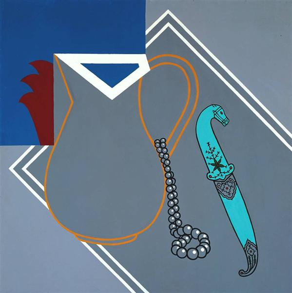 famous painting Still life with dagger of Patrick Caulfield