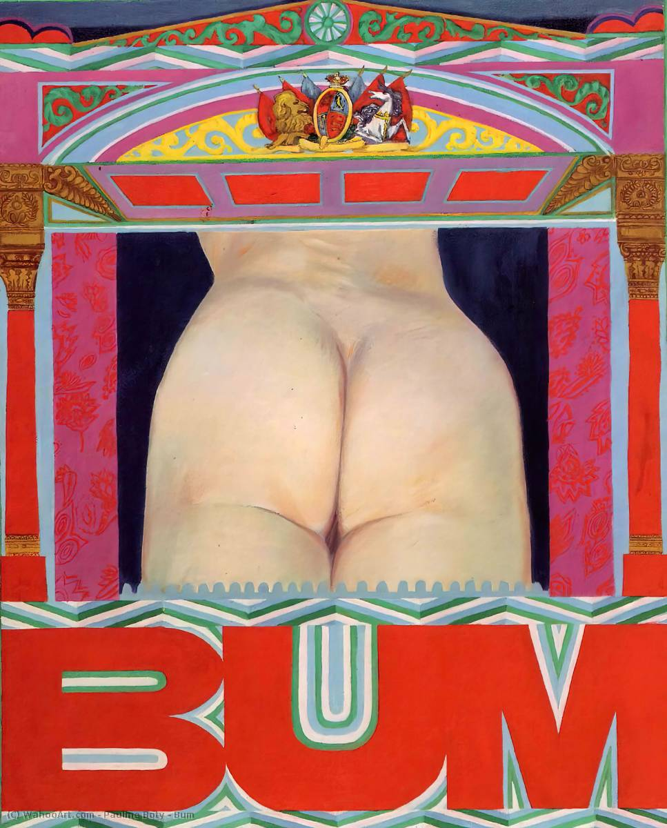famous painting Bum of Pauline Boty