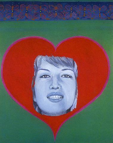 | Monica vitti with heart by Pauline Boty | BuyPopArt.com