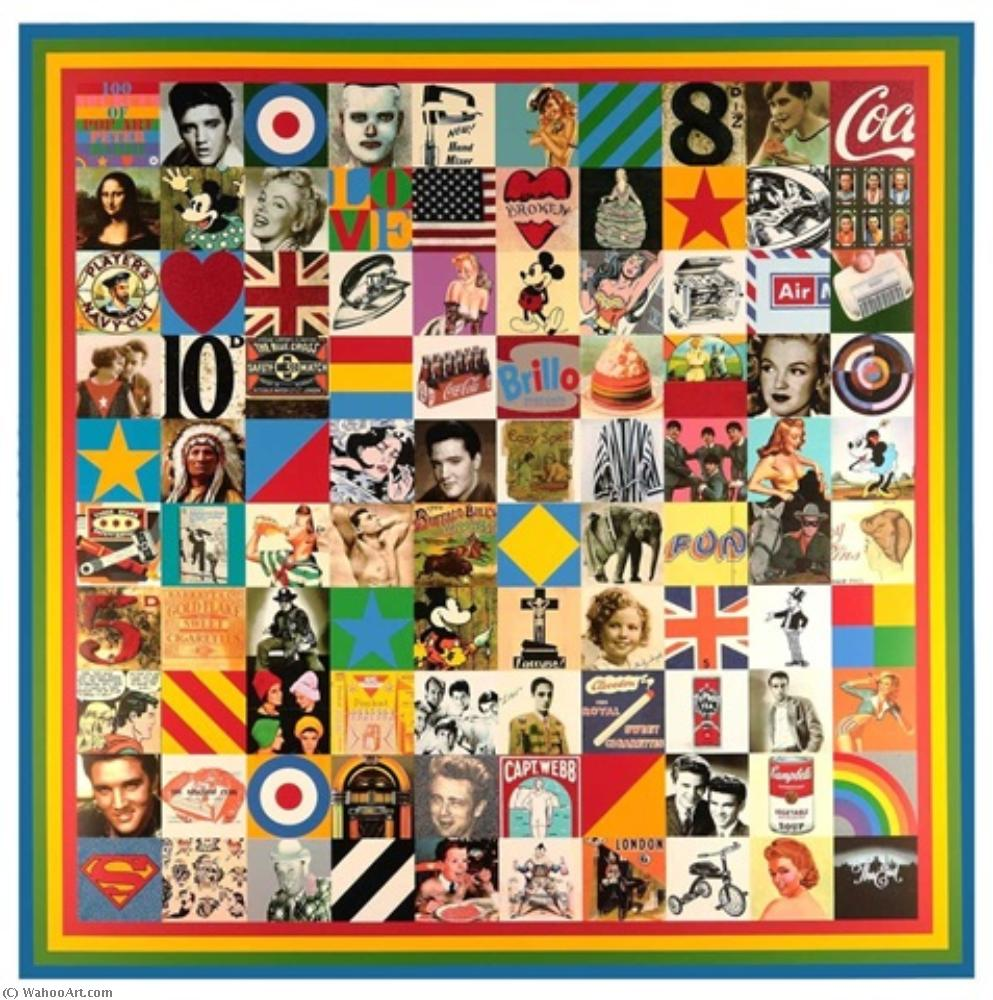 famous painting 100 Sources of Pop Art of Peter Blake