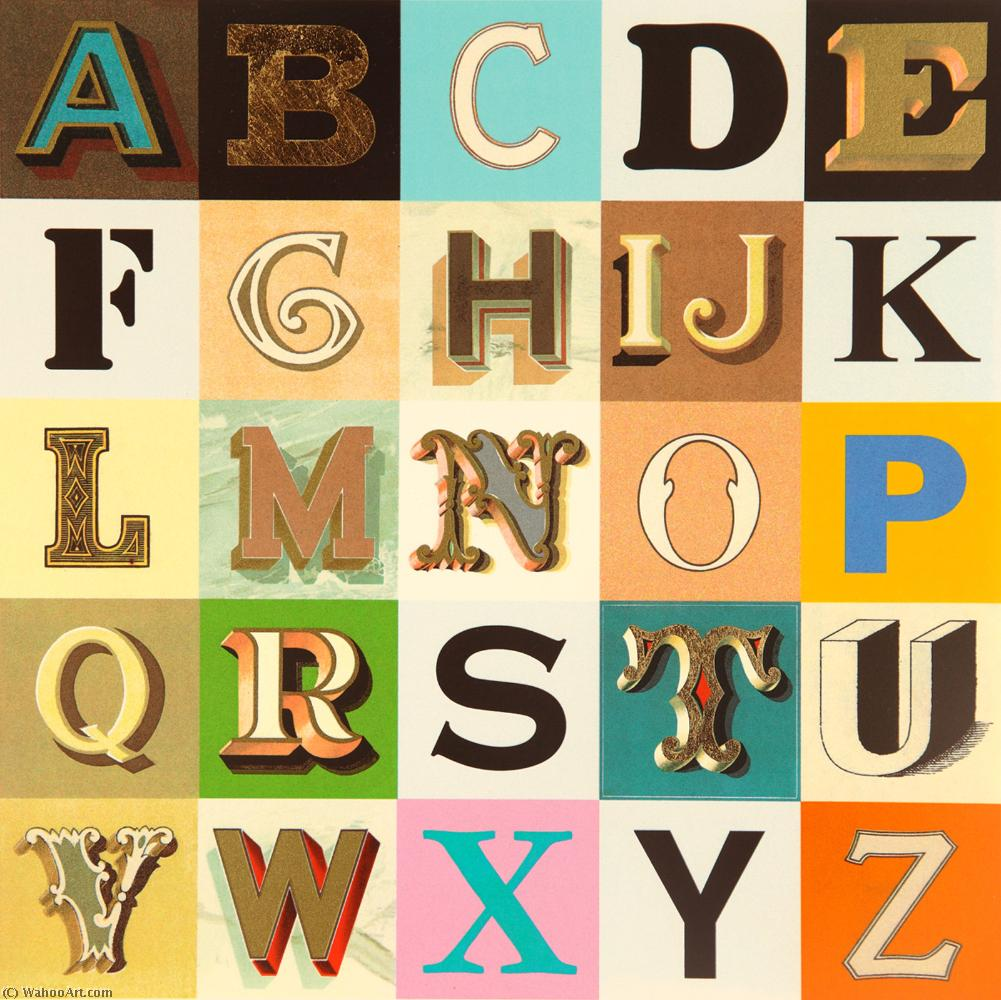 famous painting Appropriated alphabets of Peter Blake