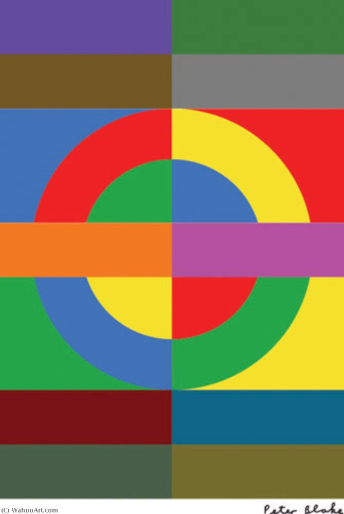 famous painting London underground of Peter Blake