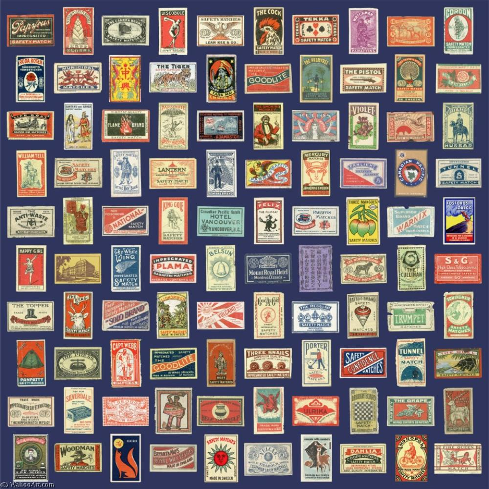 famous painting Matchboxes of Peter Blake