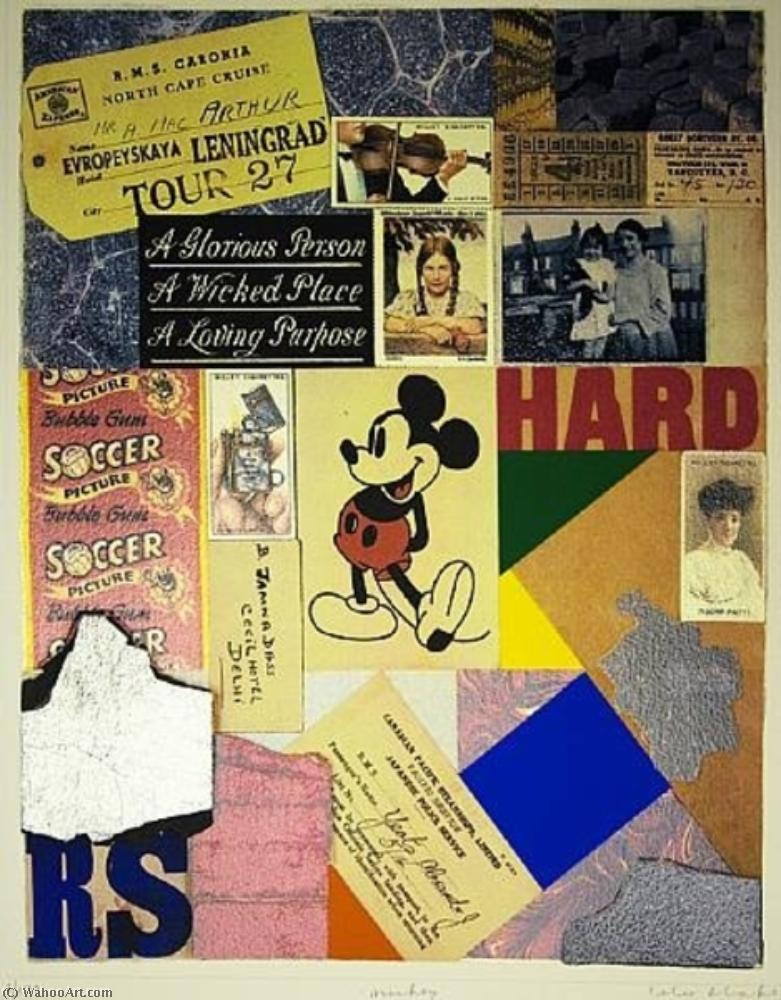 famous painting Mickey of Peter Blake