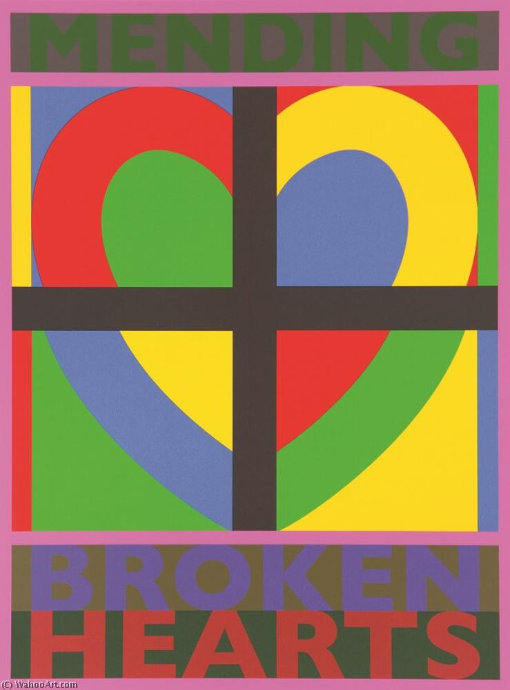famous painting Sir peter blake mending broken hearts of Peter Blake