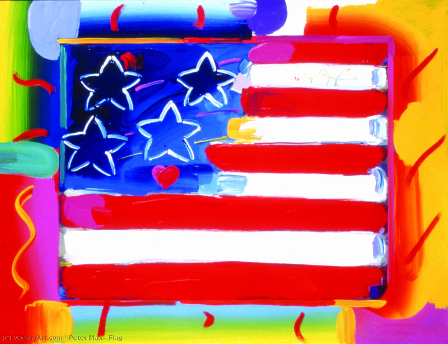 | Flag by Peter Max | BuyPopArt.com
