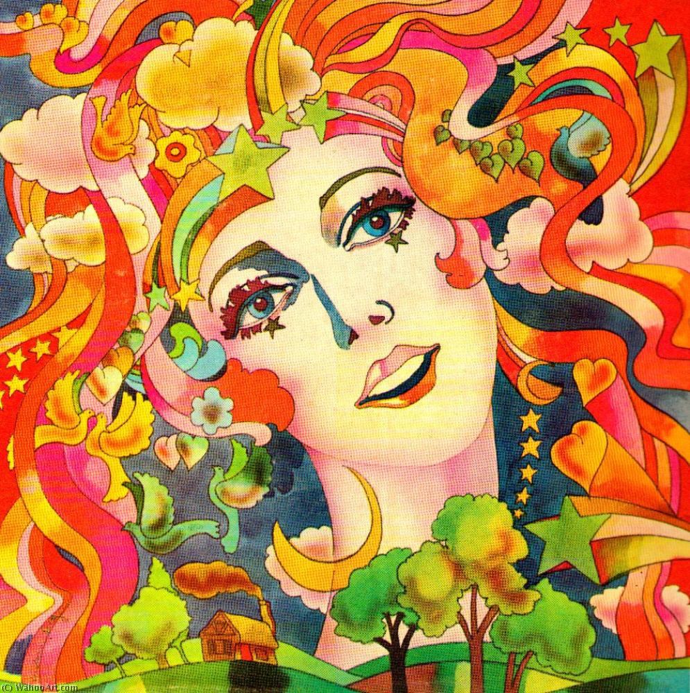famous painting Girl of Peter Max