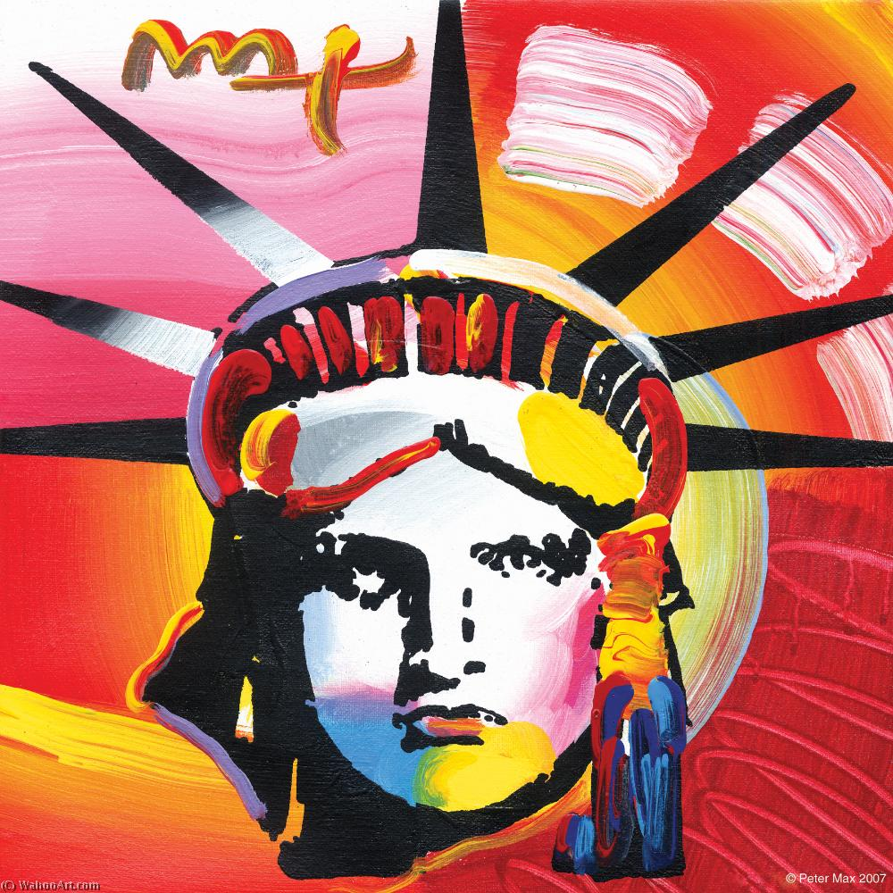 famous painting Liberty head of Peter Max