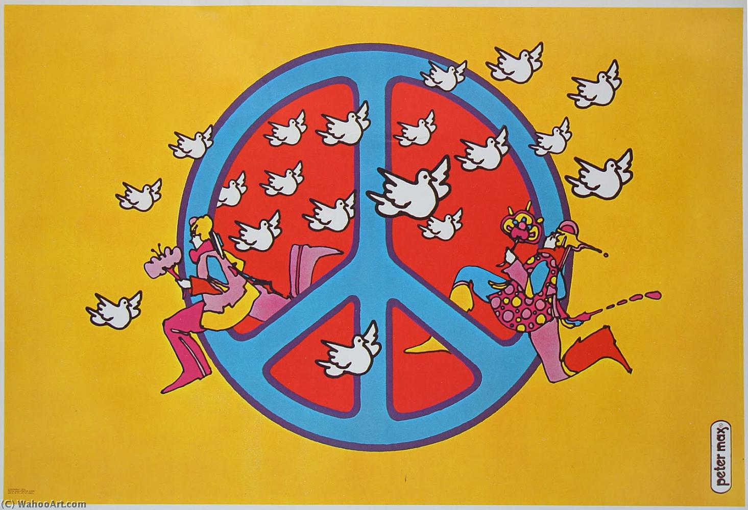 Order Art Reproductions Pop Art : Peace sign by Peter Max | BuyPopArt.com
