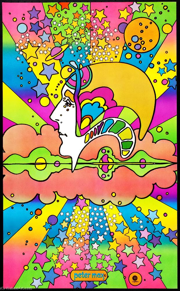 famous painting Posters of Peter Max